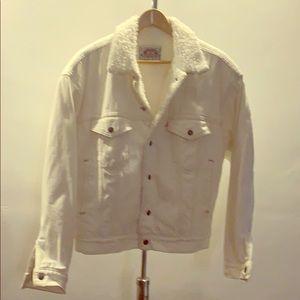 Vintage 80's  white Sherpa Levi's jacket